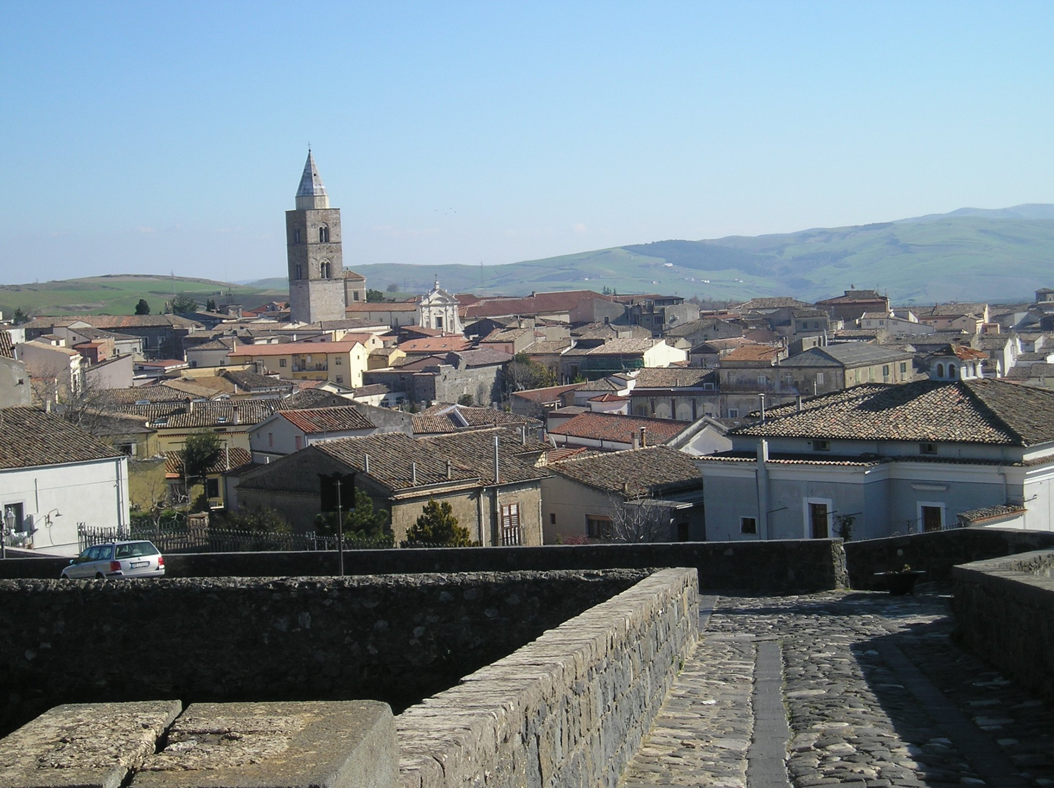 View of Melfi in Basilicata