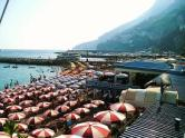 The Beach at Amalfi in Summer