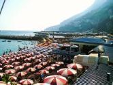 The Beach at Amalfi in Summer