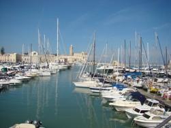 Waterfront at Historic Trani at the coast in Pulia