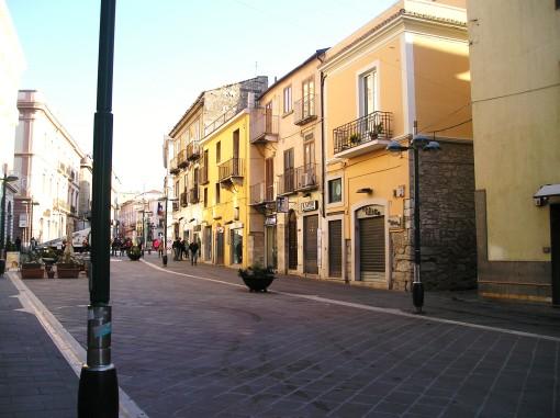Pedestrain Zone in Benevento, Campania, Southern Italy